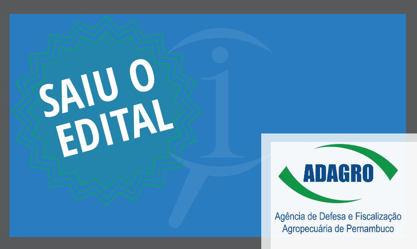 Concurso ADAGRO – Edital Publicado! 50 vagas para nível superior.