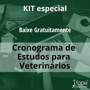 Kit Cronograma de estudos para veterinários