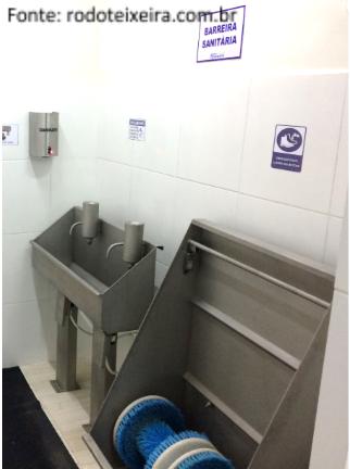Abatedouro de aves - barreiras sanitárias
